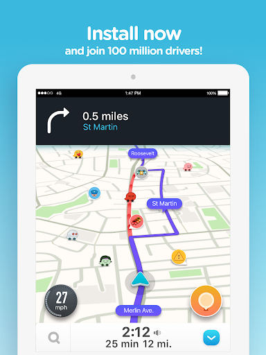 Waze - GPS, Maps, Traffic Alerts & Live Navigation screenshot 10