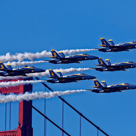 Blue Angels 749 by Raphael RaCcoon - Transportation Airplanes