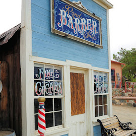 Randsburg Barber Shop by Dub Scroggin - Buildings & Architecture Other Exteriors ( mojave desert, mining town, california, ghost town, randsburg )