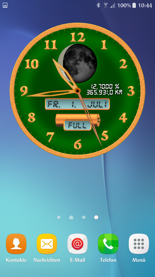 Analog Clock: ChronoLuna Screenshot 1