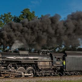 Nickel Plate 765 by Michael Wolfe - Transportation Trains ( train tracks, steam engine, nickel plate, railroad, train, smoke )