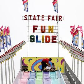 State Fair Fun Slide by Teresa Cerbolles - City,  Street & Park  Amusement Parks