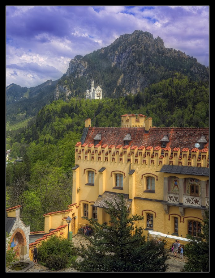In the Shadows of Neuschwanstein by Elk Baiter - Buildings & Architecture Public & Historical ( castle, bavaria, hohenschwangau, germany, neuschwanstein, king ludwig,  )