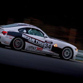 Racing in the Dark by Jiri Cetkovsky - Sports & Fitness Motorsports ( car, brno, dark, evening, race, le brno )
