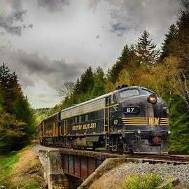 The Bridge by James Eickman - Transportation Trains