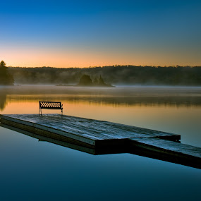 Relaxing Bench by William Ducklow - Landscapes Waterscapes