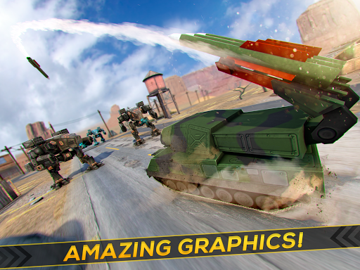 Tanks Fighting Robots Battle - screenshot