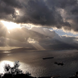 Sky by Claude Huguenin - Landscapes Weather ( light sky sea ships clouds sun )