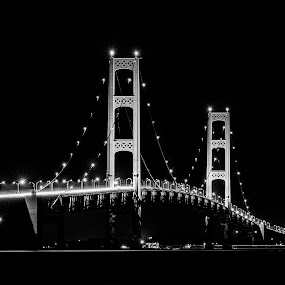 Mighty Mac by Andrew Christmann - Buildings & Architecture Bridges & Suspended Structures ( mighty mac, michigan, mackinaw, bridge, landscape, architecture )
