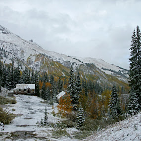 Idarado Mine Townsite  by Justin Giffin - Landscapes Mountains & Hills ( mountains, fall colors, autumn, snow, colorado, landscape, abandoned,  )