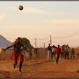 Game in the township by Romano Volker - Sports & Fitness Soccer/Association football