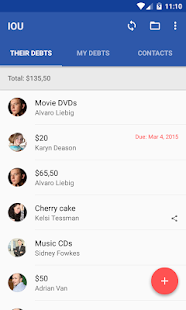 IOU Pro - debt manager screenshot for Android