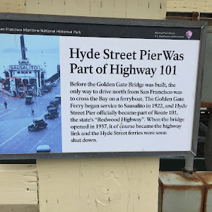 Hyde Street Pier Was Part of Highway 101