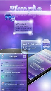 Simple Glass SMS - screenshot