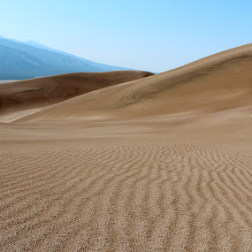 Waves with no sound  by Emily Jones - Landscapes Deserts ( dunes, dune waves, national parks, great sand dunes )
