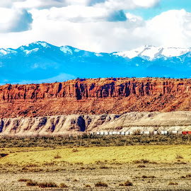 New Mexico Vista by Dave Walters - Landscapes Deserts ( mesa, nature, desert, rocky mountains, topaz studio, climates, colors )