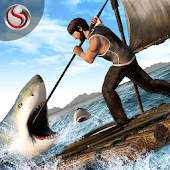 Raft Survival Shark Escape Sim APK for Bluestacks