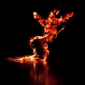 Fireman by Andro Andrejevic - Abstract Light Painting ( colour, light painting, leds, light )