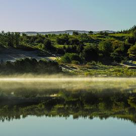 Morning Dew by Ríkarður Óskarsson - Landscapes Sunsets & Sunrises (  )