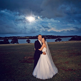 Stormy Weather by Alan Evans - Wedding Bride & Groom ( alan, aj photography )