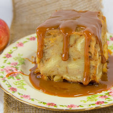 Apple Bread Pudding with Dulce de Leche Sauce