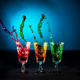 Splash by Paul Cousins - Food & Drink Alcohol & Drinks ( liquid, splash, alcohol, glass, shot glass )