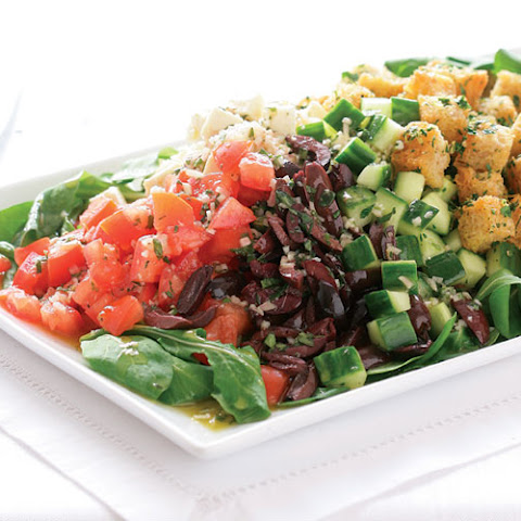 Breakfast Salad with Cinnamon Toast Croutons Recipe | Yummly