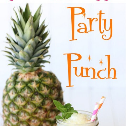 Sparkling Pineapple Party Punch Recipe!