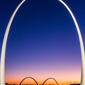 Deep in thought by Tony Burnard - Buildings & Architecture Architectural Detail ( water, sunset, bridge, light, elizabeth )