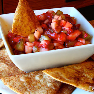 Fruit Salsa with Baked Cinnamon Chips