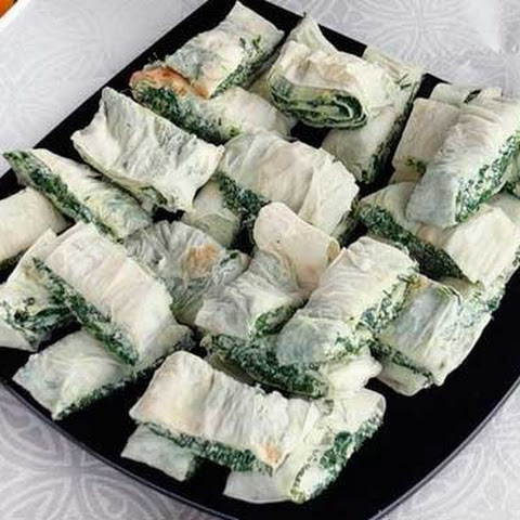 Low Calorie Rolls With Cheese And Greens