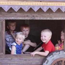 Enjoying the festival by Jeffrey  Thur - Babies & Children Children Candids ( wagon, summer, festival, fun, kids )