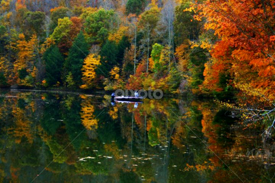 fisherman's morning by Dawn Vance - Landscapes Waterscapes ( water, autumn )