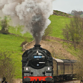 Working Hard by Peter Jarvis - Transportation Trains ( railway, track, train, exhaust, loco, smoke, steam )