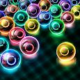 Magnetic balls: glowing neon