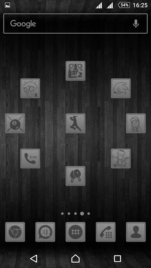 Wooden Icons Gray Screenshot 4