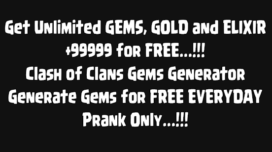 App Gems for Clash of Clans Prank apk for kindle fire