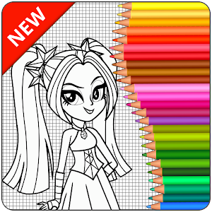 Coloring Page Equestria Girls For PC