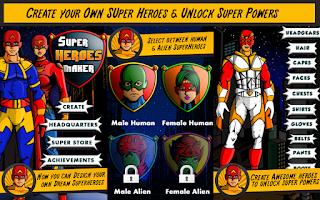 Screenshot of Superhero Maker