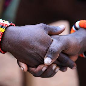 Massai shaking hands by Peter Wabbel - People Body Parts ( masterofthemoment, hands, pwcstilllife, pwchands, africa, massai )