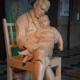 by Irene McDonald - Novices Only Objects & Still Life ( buchanan galleries, statue, father and son, figures )