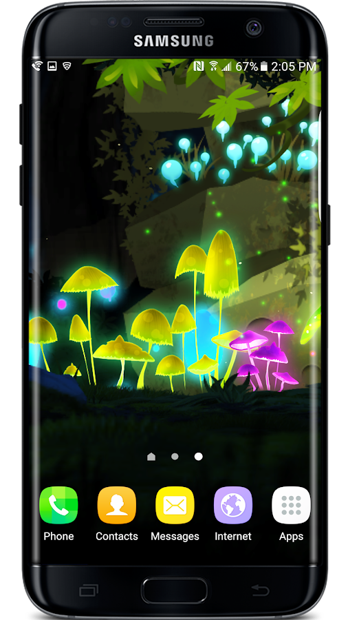 Mushroom Firefly Jungle LWP Screenshot 6