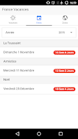 Screenshot of France Vacances Scolaires