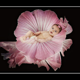 the little bud by Kathleen Devai - Digital Art People ( colour, child, born, birth, baby, flower )