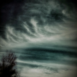 Whispers by Bill Kratz - Instagram & Mobile Android ( abstract, clouds, skyline, high, winds )