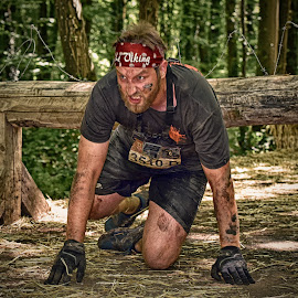 The Ugly Viking ! by Marco Bertamé - Sports & Fitness Other Sports ( 3510, amnéville, the viking, effort, determination, three thousand five hundred ten, number, grimace, the mud day )