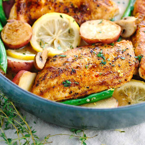 One Pot Meal Lemon Chicken with Vegetables