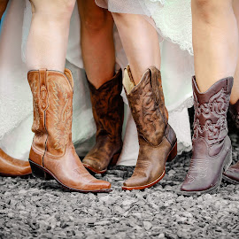 Bride and Bridesmaids Boots by Tony Bendele - Wedding Other ( boot, wedding, people, boots )