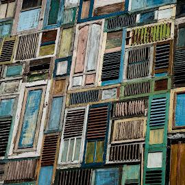 The Doors by Greg Jones - Buildings & Architecture Other Exteriors ( doors, bali, colour, texture, buildings, architecture )