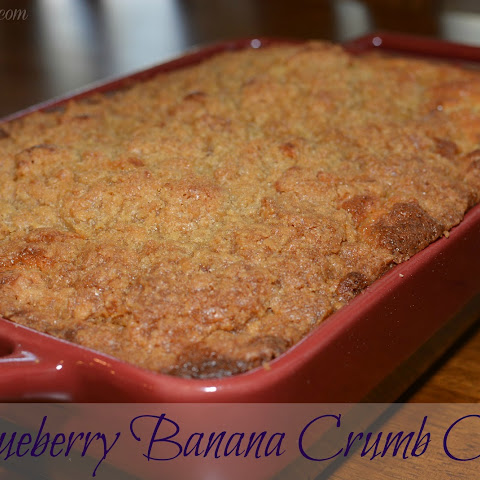 Blueberry Banana Crumb Cake